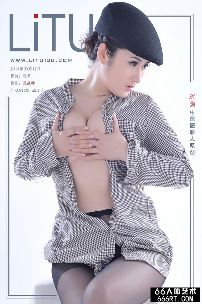 新名模雪茶11月3月12日棚拍黑丝人体